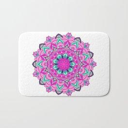 Summery purple mandala design Bath Mat