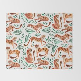 Cheetah Collection – Orange & Green Palette Throw Blanket