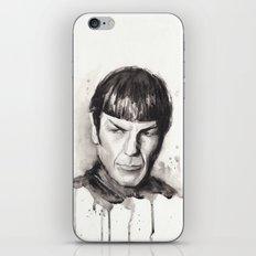 Spock Watercolor Portrait iPhone & iPod Skin