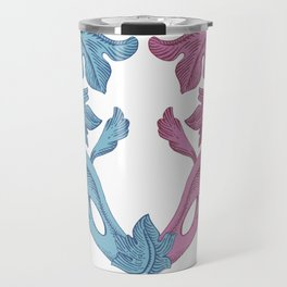 Heart pink & Azur Travel Mug