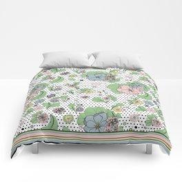60s floral framed Comforters