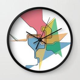 Abstract Metro Wall Clock