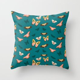 Butterfly Swarm Throw Pillow
