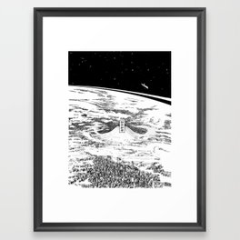 Space upon us Framed Art Print