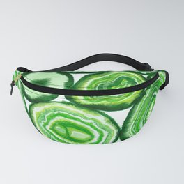 Green agate pattern watercolor Fanny Pack