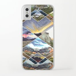 Diamond Mountains Clear iPhone Case