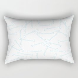 BOBBY PINS ((baby blue)) Rectangular Pillow