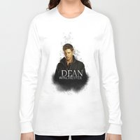 dean winchester Long Sleeve T-shirts featuring Dean Winchester - Supernatural by KanaHyde