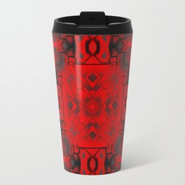 Red & Black Tech Design Travel Mug