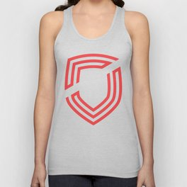 third. Shield - Red Unisex Tank Top