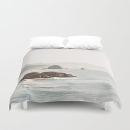 overlooking cannon beach Duvet Cover