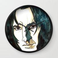 snape Wall Clocks featuring Professer Snape by Boni Dutch