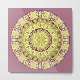 Oak Leaf Mandala Metal Print