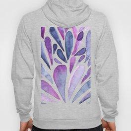 Watercolor artistic drops - purple and indigo Hoody