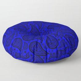 Paisley (Black & Blue Pattern) Floor Pillow