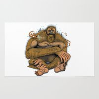 sasquatch Area & Throw Rugs featuring Sasquatch by Gregery Miller