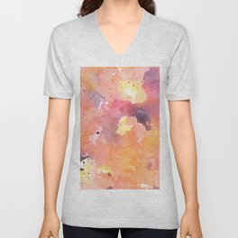 Abstract Watercolor Colorful Painting Unisex V-Neck