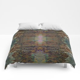 Nebulous Portal Emergence (Electric Gateway) (Reflected) Comforters