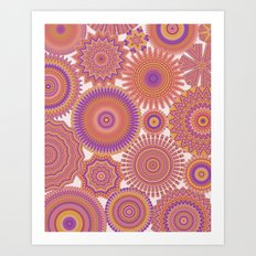 Kaleidoscopic-Fiesta colorway Art Print
