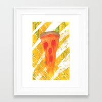 pizza Framed Art Prints featuring Pizza by Angelz
