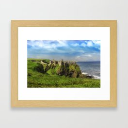 Autumn at Dunluce Framed Art Print