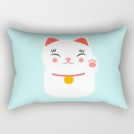 Lucky happy Japanese cat Rectangular Pillow