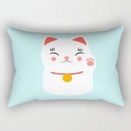 Lucky happy Japanese cat Rectangular Pillow