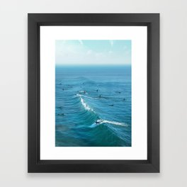 Huntington Beach Framed Art Print