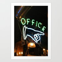 the office Art Prints featuring Office by MJ Springs
