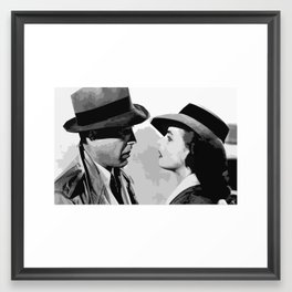 Rick and Ilsa Casablanca Classic Hollywood Pop Art Illustration Movie Home Decor Film Art Framed Art Print
