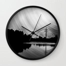Nature lake in swabia Wall Clock