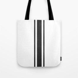 Grain Sack Stripe (Black) Tote Bag