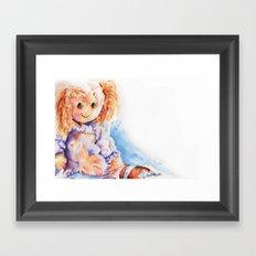 Raggedy Rosie ... Rag Doll Framed Art Print