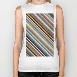 Nordic Stripes Pattern Horizontal Biker Tank