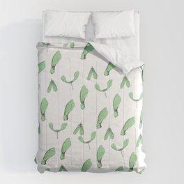 Green Maple Keys Comforters
