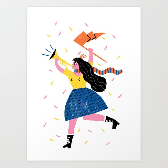 Your Own Personal Cheerleader Art Print