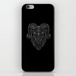 Aries Silver iPhone Skin