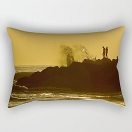 Couple watching the sunset Rectangular Pillow