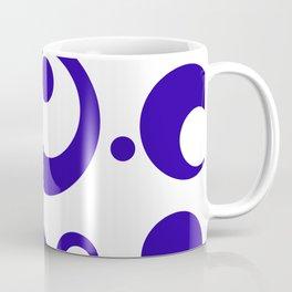 Circles Dots Bubbles :: Blueberry Inverse Coffee Mug