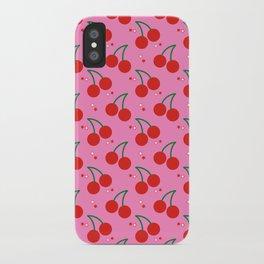 Cherry Bomb Pattern iPhone Case