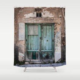 Green Door II Shower Curtain