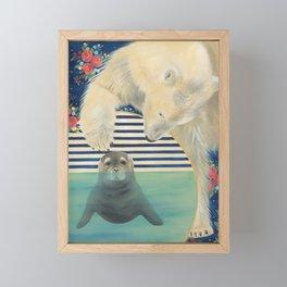 Polar Plunge Framed Mini Art Print