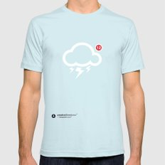 SocialCloud X-LARGE Light Blue Mens Fitted Tee