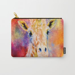 Jazzy Giraffe Colorful Animal Art by Jai Johnson Carry-All Pouch