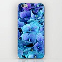 Purple Blue hydrangea iPhone Skin