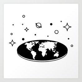 Flat Earth Rules Art Print