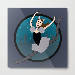 Dancing Through The Night Metal Print