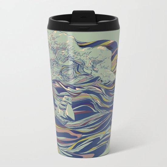 OCEAN AND LOVE Metal Travel Mug