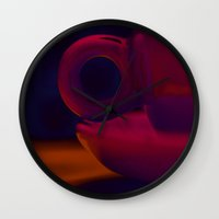cup Wall Clocks featuring Cup by PeDSchWork