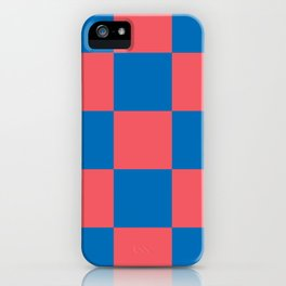 retro classic blue-and-red plaid Liderc iPhone Case